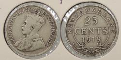 World Coins - CANADA: Newfoundland 1919-C 25 Cents