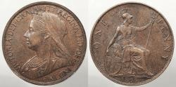 World Coins - GREAT BRITAIN: 1896 Penny