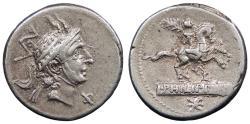 Ancient Coins - L. Philippus 113-112 B.C. Denarius Rome Mint Good VF