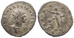 Ancient Coins - Aurelian 270-275 A.D. Antoninianus Cyzicus Mint Near EF
