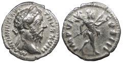 Ancient Coins - Marcus Aurelius 161-180 A.D. Denarius Rome Mint VF