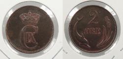World Coins - DENMARK: 1880 Better date. 2 Ore