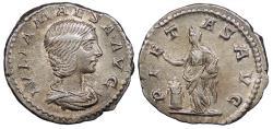 Ancient Coins - Julia Maesa, Grandmother of Elagabalus 218-223 A.D. Denarius Rome Mint Good VF