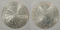 World Coins - GERMANY (WEST): 1972-D Olympics 10 Marks