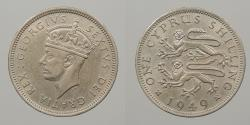 World Coins - CYPRUS: 1949 Shilling