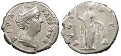 Ancient Coins - Diva Faustina I Died 140/1 A.D. Denarius Rome Mint VF