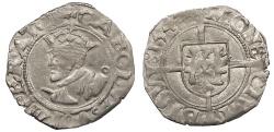 World Coins - FRANCE Besançon Charles V, as Holy Roman Emperor 1530-1556 1/2 Blanc 1544 Good VF