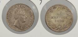World Coins - GERMAN STATES: Baden 1834 Scarce. 6 Kreuzer
