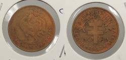 World Coins - CAMEROON: 1943-SA 50 Centimes