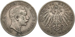 World Coins - GERMANY: Prussia 1896 2 Mark