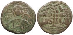 Ancient Coins - Anonymous, Time of Romanus III 1028-1034 A.D. Follis Constantinople Mint Good Fine