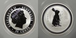 World Coins - AUSTRALIA: 1999 Year of the Rabbit. 50 Cents