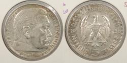 World Coins - GERMANY: 1936-A 5 Mark