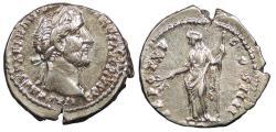 Ancient Coins - Antoninus Pius 138-161 A.D. Denarius Rome Mint EF