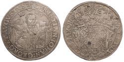 World Coins - GERMAN STATES Saxony (Sachsen) Christian II, Johann Georg I, & August 1596-HB Thaler (Taler) EF