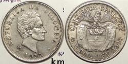 World Coins - COLOMBIA: 1932-M Medellin 50 Centaovs