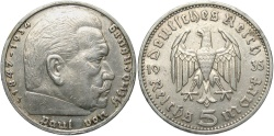 World Coins - GERMANY: 1935 J 5 Reichsmark