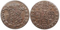 World Coins - LIEGE John Theodore 1752 Liard UNC