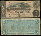 Us Coins - Richmond, VA Feb 11, 1864 5 Dollars