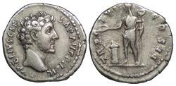 Ancient Coins - Marcus Aurelius, as Caesar 139-161 A.D. Denarius Rome Mint VF