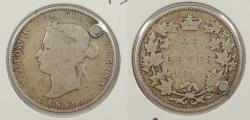 World Coins - CANADA: 1871 Obverse 2. 25 Cents