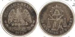 World Coins - MEXICO: 1878-Zs S 50 Centavos