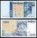 World Coins - PORTUGAL Banco de Portugal 11 September 1997 2000 Escudos AU