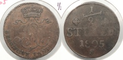 World Coins - GERMAN STATES: Berg 1805-S 1/2 Stuber