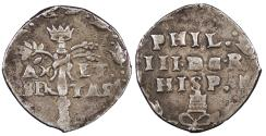 World Coins - ITALIAN STATES Naples (Napoli) Philip III of Spain ND (1621) Carlino (3 Cinquine) EF