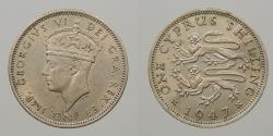 World Coins - CYPRUS: 1947 Shilling