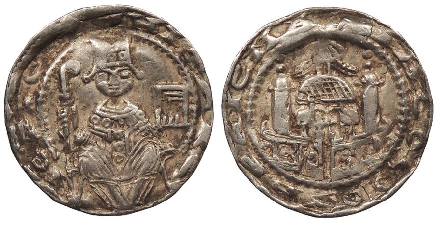 World Coins - GERMAN STATES Koln (Cologne) Archbishopric Philipp von Heinsberg 1167-1191 Pfennig (Denier) Good VF