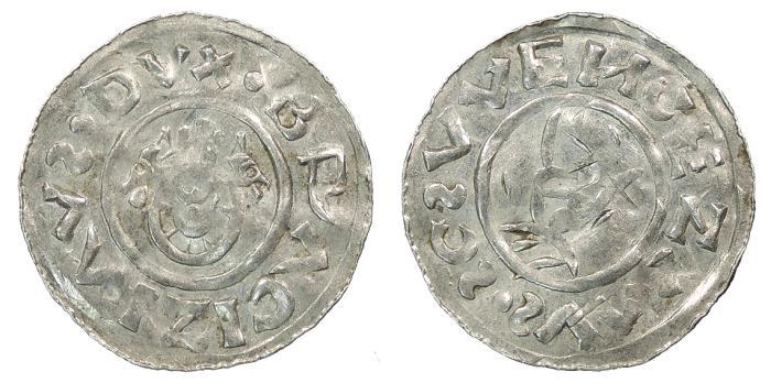 World Coins - BOHEMIA Bretislav I 1037-1055 Denar Good VF