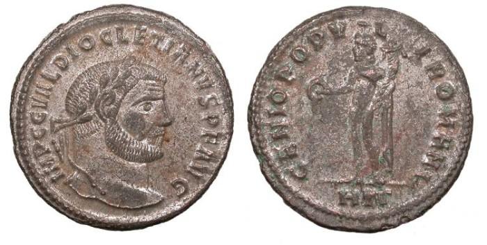 Ancient Coins - Diocletian 284-305 A.D. Follis Heraclea Mint EF