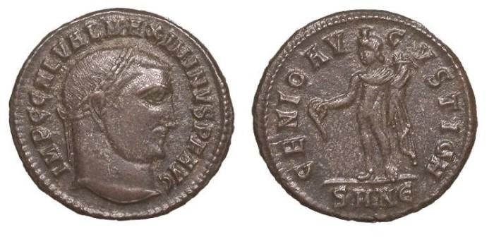 Ancient Coins - Maximinus II 309-313 A.D. Follis Nicomedia Mint VF