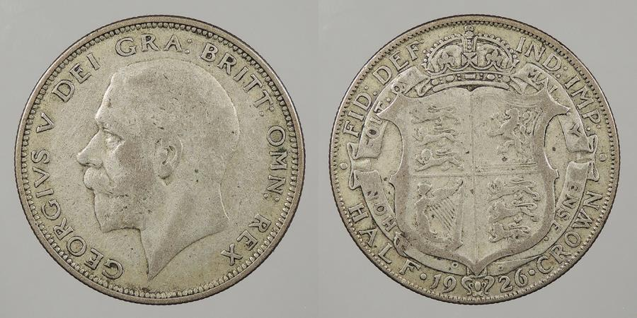 World Coins - GREAT BRITAIN: 1926 Halfcrown