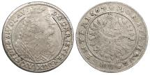 World Coins - GERMAN STATES Silesia-Liegnitz-Brieg Georg III 1664 15 Kreuzer (1/6 Thaler) VF