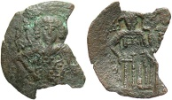 Ancient Coins - Michael VIII, Palaeologus 1261-1282 Trachy Thessalonica mint.