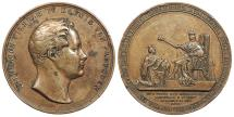 World Coins - GERMAN STATES Prussia By H. Lorenz (unsigned). 1840 AE 42mm Medal EF
