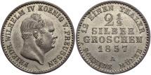 World Coins - GERMAN STATES: Prussia 1857 2 1/2 Groschen