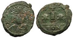 Ancient Coins - Maurice Tiberius 582-602 AD Decanummium Constantine in Numidia mint (?) VF