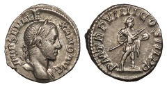 Ancient Coins - Severus Alexander 222-235 A.D. Denarius Rome Mint Choice EF