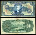 World Coins - BRAZIL Casa da Moeda ND (1942) 10 Cruzeiros F/VF