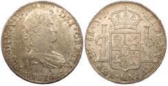 World Coins - PERU Ferdinand (Fernando) VII 1816-LIMAE JP 8 Reales AU