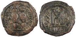 Ancient Coins - Justin II 565-578 AD Follis (40 Nummi) Nicomedia Mint VF