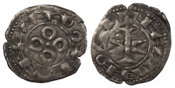World Coins - FRANCE County of Melgueil (Languedoc) Anonymous Issues 12th Century Denier Nice VF