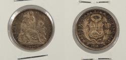 World Coins - PERU: 1902 Dinero