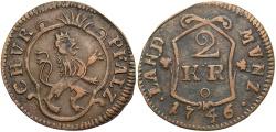 World Coins - GERMAN STATES: Pfalz-Sulzbach 1746 Contemporary counterfeit (?) 2 Kreuzer