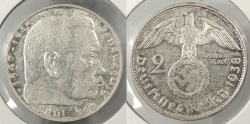 World Coins - GERMANY: 1938-A 2 Mark