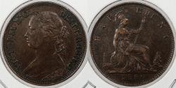 World Coins - GREAT BRITAIN: 1880 Victoria Farthing