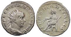 Ancient Coins - Trebonianus Gallus 251-253 A.D. Antoninianus Rome or Milan Mint VF